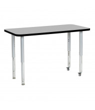 "ECR4Kids Contour 48"" W x 24"" D Adjustable Mobile Activity Table (Shown in Grey)"