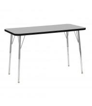 "ECR4Kids Contour 48"" W x 24"" D Adjustable Activity Table (Shown in Grey)"