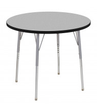 """ECR4Kids Contour 36"""" D Round Adjustable Activity Table (Shown in Grey)"""