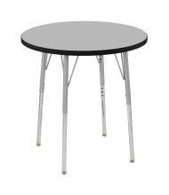 "ECR4Kids Contour 30"" D Round Adjustable Activity Table (Shown in Grey)"