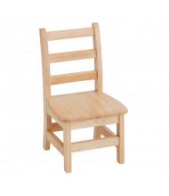 ECR4Kids Hardwood Ladderback Classroom Chairs, 2-Pack
