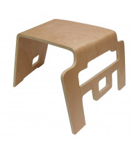 "ECR4Kids 12"" H Bentwood Linking School Stool, 4-Pack"