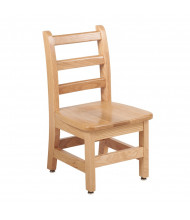 "ECR4Kids 12"" H Hardwood Ladderback Classroom Chair, Oak, 2-Pack"