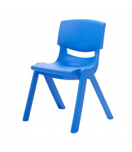 "ECR4Kids 12"" H Resin Classroom Stacking Chair, 6-Pack (Shown in Blue)"