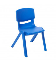 "ECR4Kids 14"" H Resin Classroom Stacking Chair, 6-Pack (Shown in Blue)"