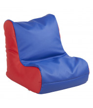 ECR4Kids SoftZone Bean Bag Chair, Blue/Red
