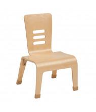 """ECR4Kids 12"""" H Bentwood Teacher Classroom Chair, Natural, 2-Pack"""