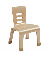 "ECR4Kids 10"" H Bentwood Classroom Chair, Natural, 2-Pack"