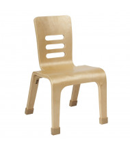 "ECR4Kids 12"" H Bentwood Classroom Chair, Natural, 2-Pack"