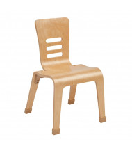 ECR4Kids Bentwood Classroom Chairs, Natural, 2-Pack