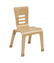"ECR4Kids 14"" H Bentwood Classroom Chair, Natural, 2-Pack"