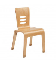 "ECR4Kids 16"" H Bentwood Classroom Chair, Natural, 2-Pack"