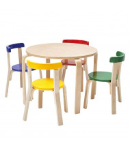 "ECR4Kids 28"" Round Bentwood Preschool Table and Chair Set, Assorted"