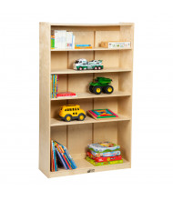 "ECR4Kids 60"" H Birch Classroom Bookcase"