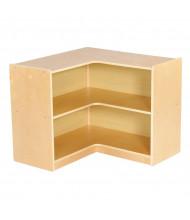 """ECR4Kids Birch 24"""" H 2-Shelf Mobile Corner Storage Unit"""