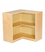 "ECR4Kids Birch 30"" H 2-Shelf Mobile Corner Storage Unit"