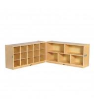 ECR4Kids Fold & Lock 15 Cubby-Tray Classroom Cabinet Storage
