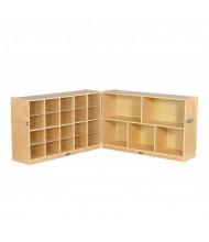 ECR4Kids Fold & Lock 20 Cubby-Tray Classroom Cabinet Storage