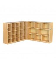 ECR4Kids Fold & Lock 25 Cubby-Tray Classroom Cabinet Storage