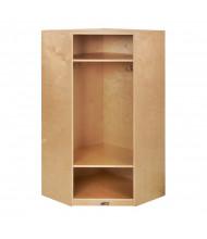 ECR4Kids Birch Corner Single Section Cubby Coat Locker