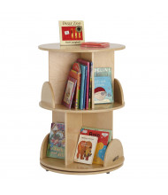 "ECR4Kids 22"" Dia. 2-Level Media Carousel Book Display"