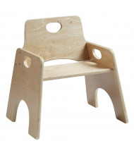 "ECR4Kids 10"" H Stackable Wooden Preschool Chair, 2-Pack, Unassembled"