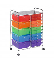"ECR4Kids 38"" H 15-Drawer Mobile Classroom Organizer (Shown in Assorted)"
