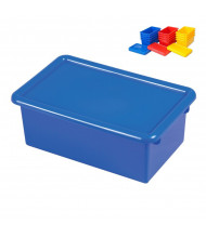ECR4Kids Stack & Store Plastic Tub with Lid, 12 Assorted Bins