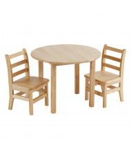 "ECR4Kids 30"" Round Hardwood Preschool Table and Chair Set"