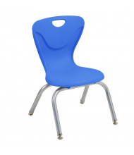 """ECR4Kids 12"""" H Contour Stacking Classroom Chair, 4-Pack (Shown in Blue)"""