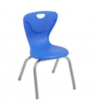 "ECR4Kids 14"" H Contour Stacking Classroom Chair, 4-Pack (Shown in Blue)"