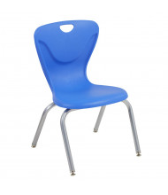 "ECR4Kids 16"" H Contour Stacking Classroom Chair, 4-Pack (Shown in Blue)"