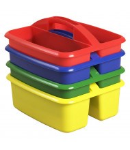 ECR4Kids Large Art Caddy Classroom Storage Tray Set, Assorted, 12 Pack (All Colors Shown)