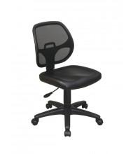 Office Star Mesh-Back Vinyl Mid-Back Task Chair (Model EM2910V)