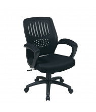 Office Star Contoured Shell Mesh-Back Fabric Mid-Back Managers Chair