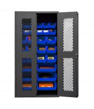Durham Steel Clearview Ventilated Bin Storage Cabinets, 30 Hook-On Bins