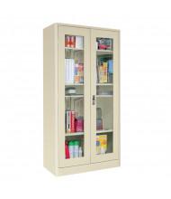 "Sandusky 36"" W x 72"" H Elite Radius Edge Storage Cabinets, Assembled  (Shown in Putty)"