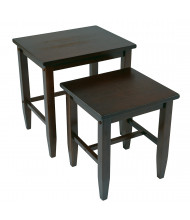 Office Star ES19 2-Piece Nesting Tables in Espresso Finish