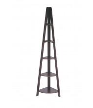 Office Star ES22 5-Shelf Corner Ladder Bookcase