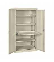 "Sandusky 36"" W x 24"" D x 66"" H Pull-Out Shelves Storage Cabinet (Shown in Putty)"