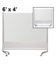 Best-Rite Evolution Projection Surface/Porcelain 6 x 4 D.O.C. Mobile Divider Reversible (Both Sides Shown)