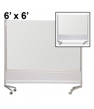 Best-Rite Evolution Projection Surface/Porcelain 6 x 6 D.O.C. Mobile Divider Reversible (Both Sides Shown)
