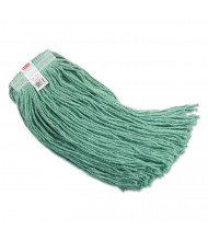 Rubbermaid 24 oz. Synthetic Mop Head, Green, Pack of 6