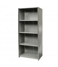 "Hallowell 5-Shelf 87"" H Hi-Tech Extra Heavy-Duty Closed-Back Shelving Unit, Hallowell Grey"