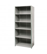 "Hallowell 6-Shelf 87"" H Hi-Tech Medium-Duty Closed-Back Shelving Unit, Dark Grey"