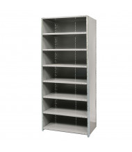 "Hallowell 8-Shelf 87"" H Hi-Tech Heavy-Duty Closed-Back Shelving Unit, Hallowell Grey"