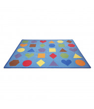 ECR4Kids Lots of Shapes Seating Rectangle Classroom Rug
