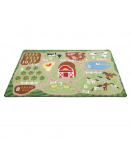 ECR4Kids Count the Farm Rectangle Classroom Rug