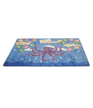 ECR4Kids Olive the Octopus Activity Rectangle Classroom Rug