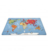 ECR4Kids Animals of the World Activity Rectangle Classroom Rug